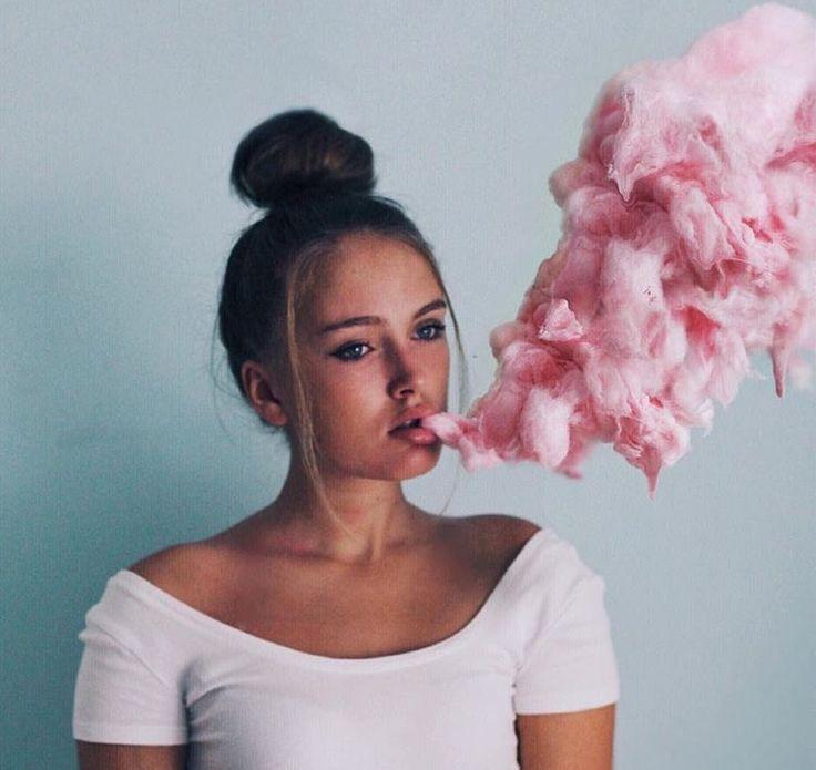 Fetching tigerss | portrait Girl pastel smoke surrealism surreal cotton candy