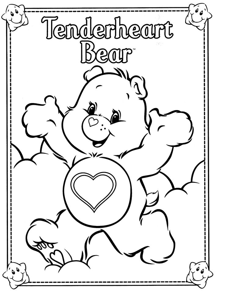 97 Best Care Bear Themed Party Images On Pinterest Care Bears - care bear colouring pages to print