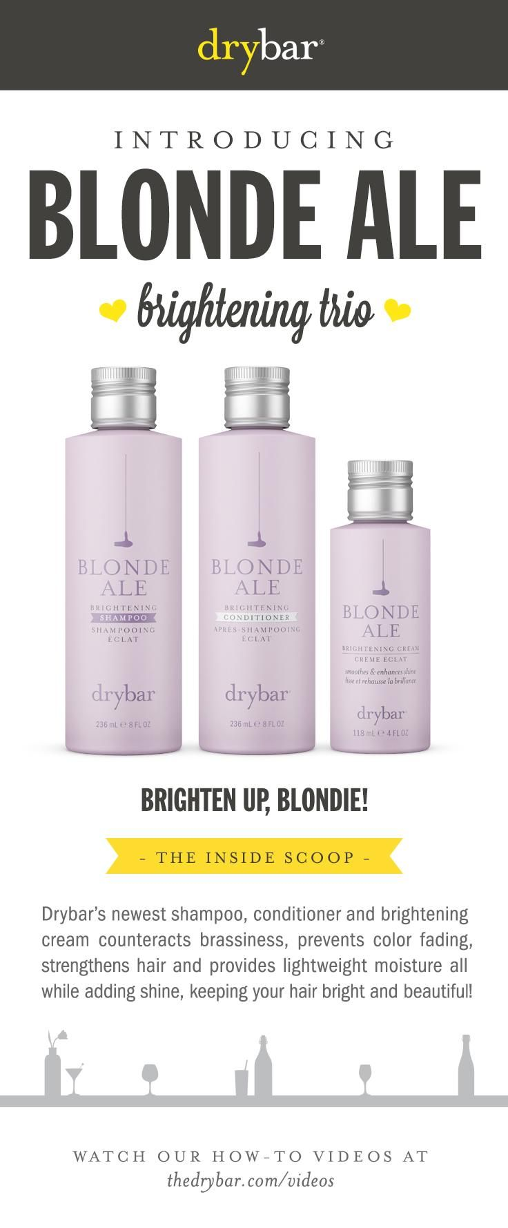 Blonde Ale Shampoo, Conditioner & Cream