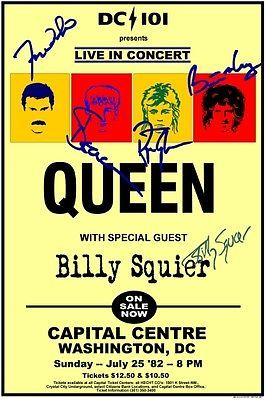 Queen Concert Poster https://www.facebook.com/FromTheWaybackMachine
