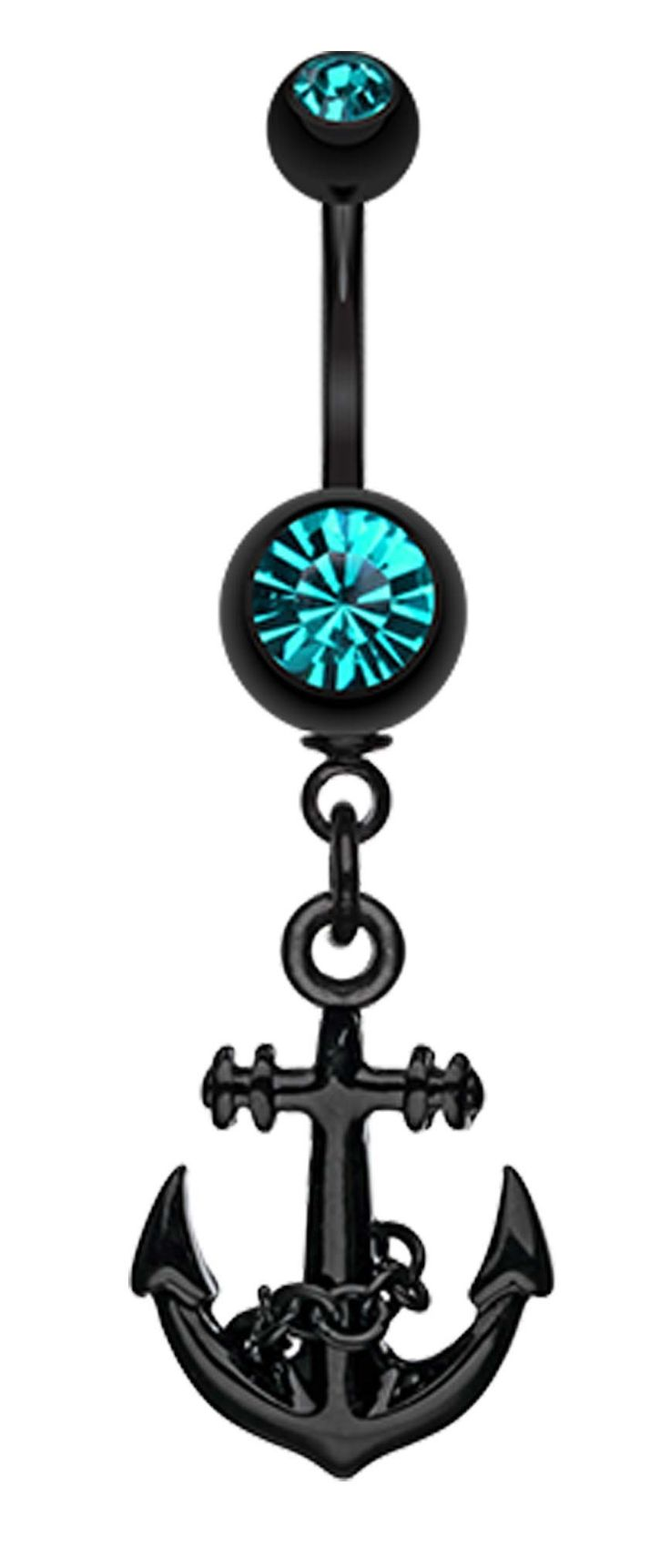 Blackline Classic Anchor Belly Button Ring