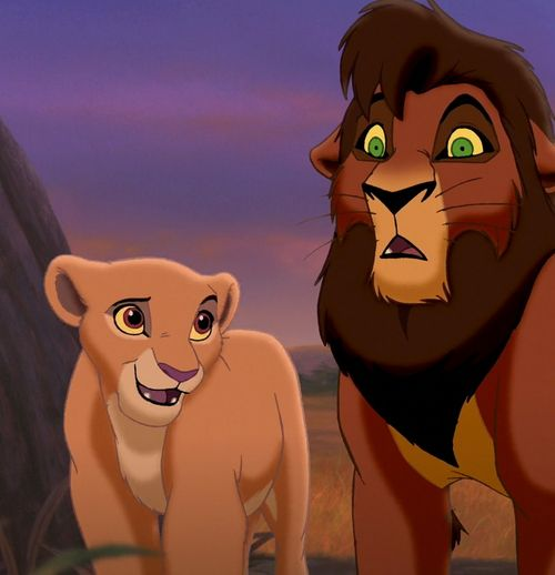 Kiara & Kovu - okay....this is weird, but am I the only one who thinks Kovu is REALLY attractive for an animated lion? Seriously, Disney, STOP MAKING YOUR MALE CHARACTERS SO CUTE ASDFGHJKL