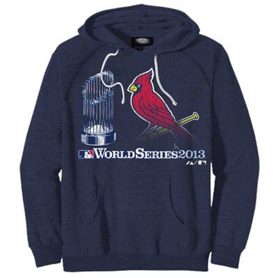 Majestic Threads St. Louis Cardinals 2013 MLB World Series Bound Participant Trophy Pullover Hoodie - Navy Blue