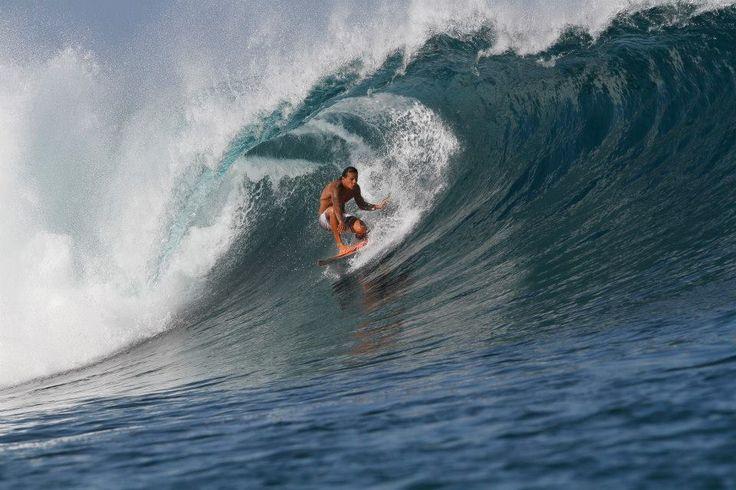Pipeline surf team member Ikaika Freitas  in Bali  doing his thing.