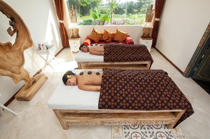 """Try at our Black Sand Spa the special """"Unity"""" treatment for two. Three and a half hours of relaxing foot and body massages and """"Elemis"""" products facials for him and her, topped off with a romantic bubble bath and Champagne."""