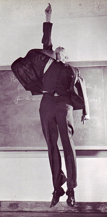 Manhattan Project physicist J. Robert Oppenheimer, 1958.  by Philippe Halsman     http://able2know.org/topic/185481-1