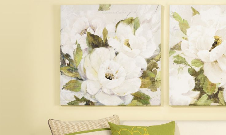 Floral Design Canvas Wall Print 23.5 x 23.5