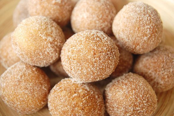 An excellent recipe if you like cake donuts or are interested in learning how to make donuts--used a small cookie scoop to scoop up the dough and drop them in the oil.