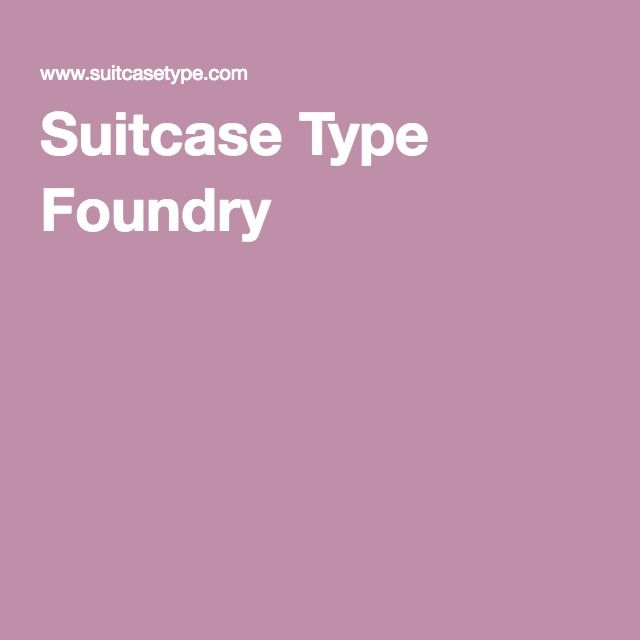 Suitcase Type Foundry
