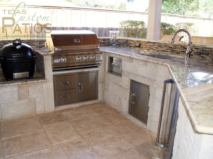 Outdoor Kitchen Design With Built In Grill And Built In Smoker Grill Smoke