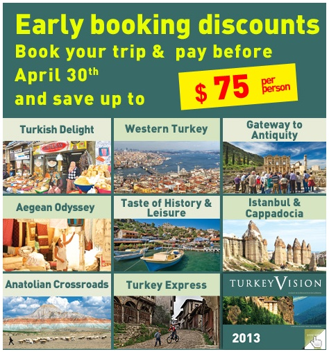 Book your trip before April 30th and save.  #earlybird #deal http://www.turkeyvision.com/PUsa/en/early_booking.html