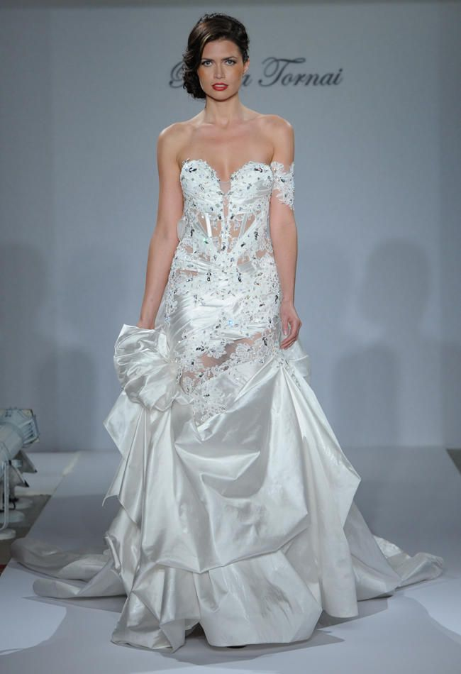 Pnina Tornai Fall 2015 Wedding Dresses Are Sultry and Bold | TheKnot.com