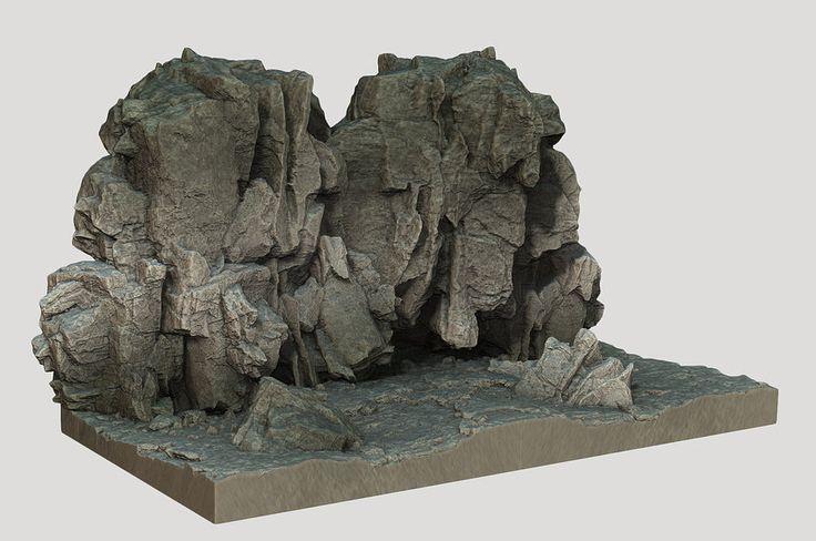 Rock design, Halo 4, Peter Konig on ArtStation at https://www.artstation.com/artwork/9eYoW