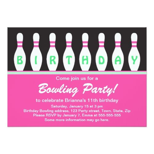 120 best bowling birthday invitations images on pinterest, Birthday invitations