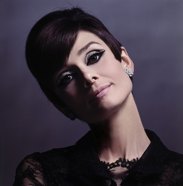 """Audrey photographed by Douglas Kirkland at the Studio de Boulogne during the making of """"How to Steal a Million"""",Paris, November 1965"""