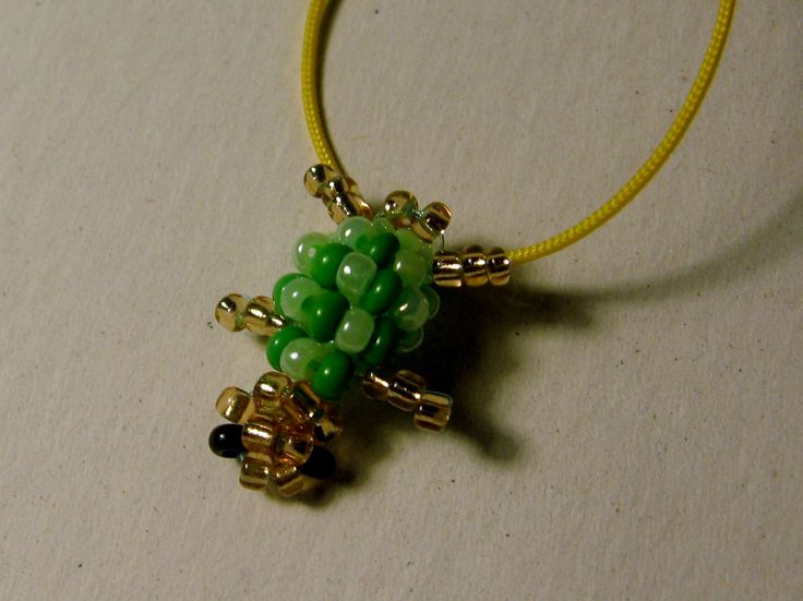 Portachiavi tartaruga di perline