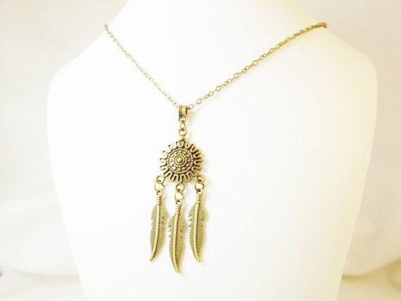 #Little #small #bronze metal feather by 10dollarjewellery on Etsy #gypsie #hippy