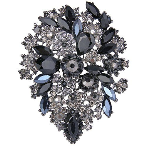 Brooch Boutique Silver Plated AB Crystal Unicorn Brooch Pendant bjHOaNQa