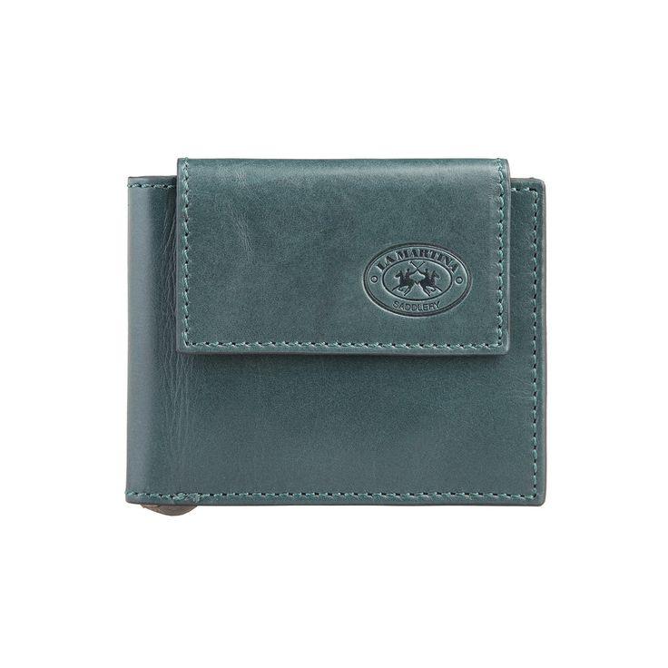 La Martina – Portafoglio uomo – 100% pelle con logo – porta carte di credito – mis. 11*9*1 cm