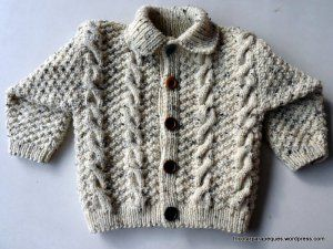 Chaqueta para invierno con botones. Lovely cardigan for winter. Modelo 16 | Tricotar para peques - Knitting for kids