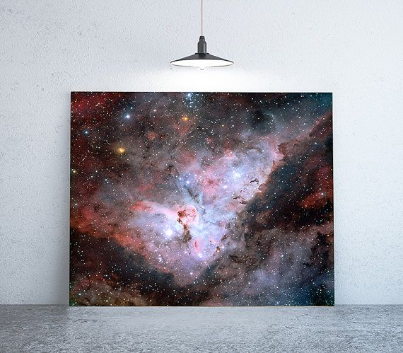 58 x 58  Space Photography Large Print of Galaxy by anewalldecor