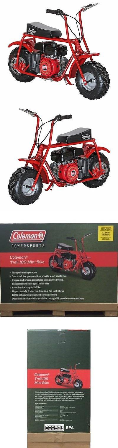 Gas Scooters 75211: New Coleman Ct100u Trail100 Gas-Powered Mini Bike Scooter Easy Pull-Start! Red -> BUY IT NOW ONLY: $399.99 on eBay!
