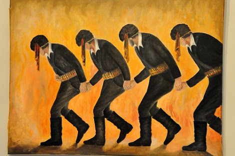Painting of Pontian dancers  Pontiaka