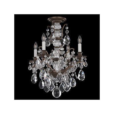 Schonbek Bordeaux 4 Light Crystal Chandelier Finish: Heirloom Bronze, Crystal Color: Legacy Clear