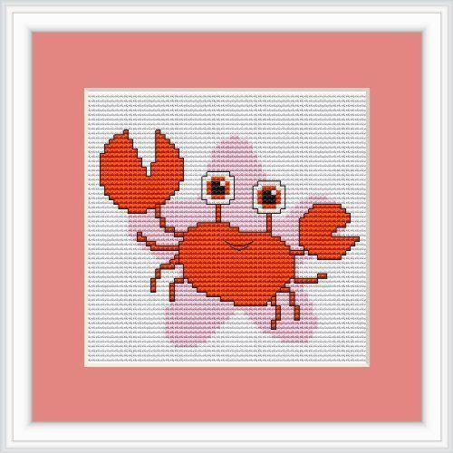 Luca-S LB053 - Schema punto croce contato, segno zodiacale Cancro, 10,5 x 11 cm | eBay