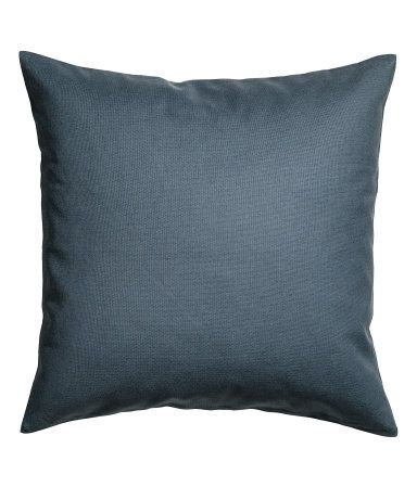 White. Cushion cover in cotton canvas with a concealed zip.