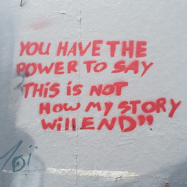 StreetArt Quote des Tages : You have the Power to say... Atomlabor Wuppertal Blog