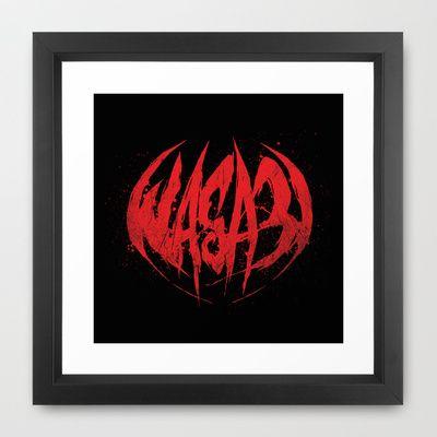 Bloody.Logo. Framed Art Print by WASA3I - $34.00