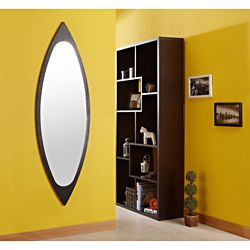 @Overstock - The eclectic contemporary vertical eye shape mirror will bring elegance to any room in the home in black finish border. A slimming full body mirror is featured in a black finish to blend in with any home decor.http://www.overstock.com/Home-Garden/Black-Full-Body-Mirror-That-Meets-the-Eye/6836498/product.html?CID=214117 $199.99