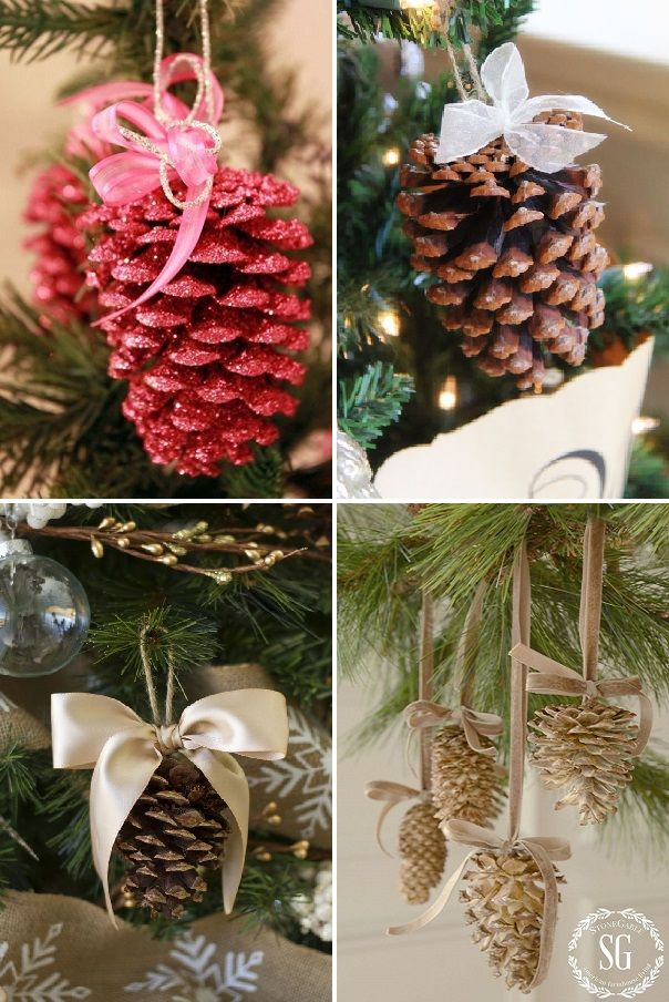 pinhas na decoração de natal - pingente                                                                                                                                                                                 Mais