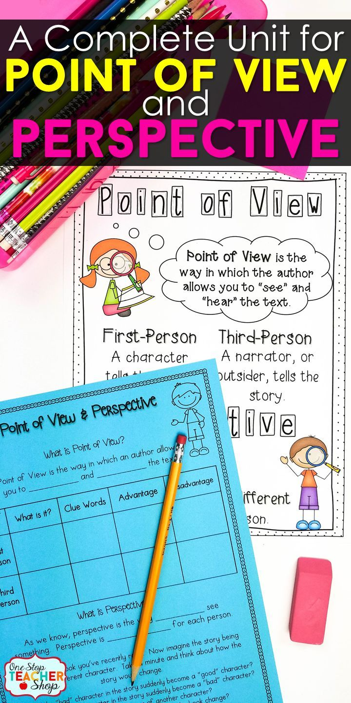 Point Of View And Perspective Lesson And Activities Middle School