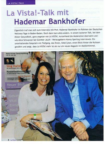 LOHAS TALK mit Hademar Bankhofer MR.GESUNDHEIT und Konny Slperling  aus meiner ehemaligen Zeitung LA VISTA! (hier die 1. Seite des Artikels)