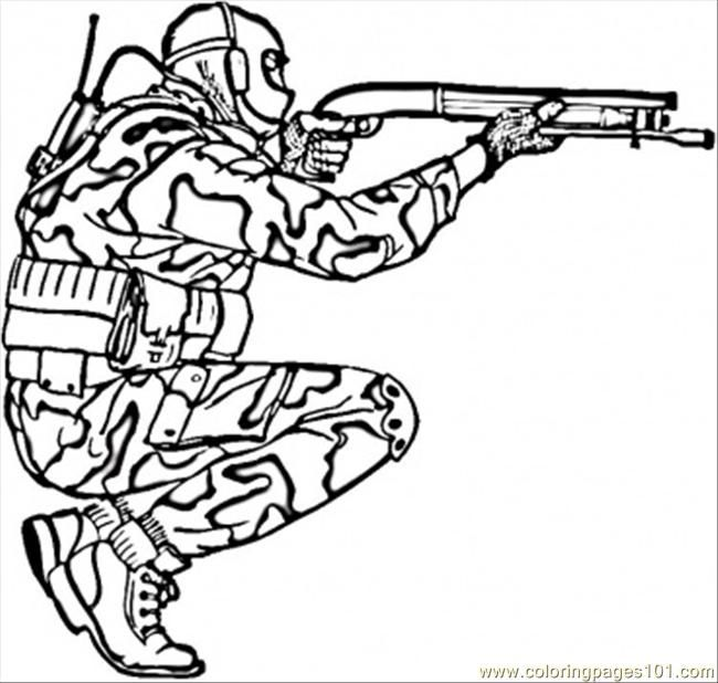 army coloring pages printable soldier