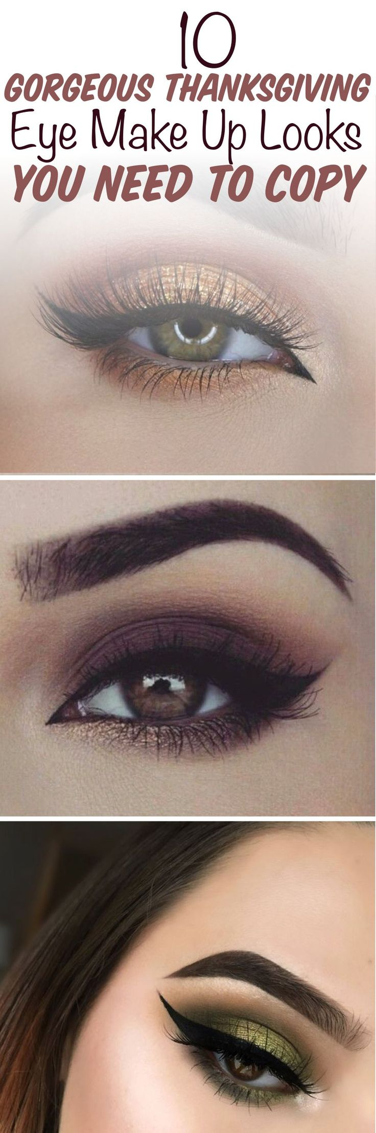 Thanksgiving is a great holiday to try out a new makeup look for because, let's face it, your face is the fanciest you'll get. (You have to make your stretchy pants and chunky sweater look put together somehow, right?) If you are looking for a little...