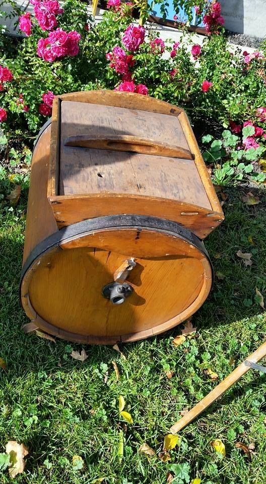Beautiful antique butter churn. New in our #collingwood store $120 #happythanksgiving #vintage #collectibles #rustic