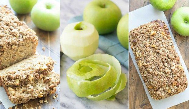 Vláčný snídaňový chlebíček s jablky a skořicí