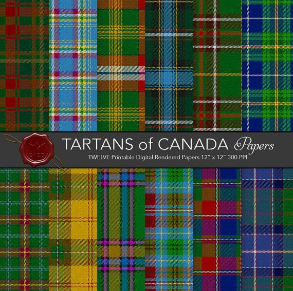 Canadian tartans / Maple Leaf / Alberta by CornucopiaArtDesign