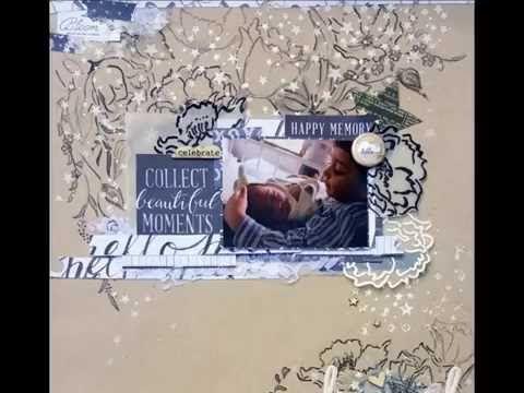 Mixed media scrapbooking KripaK GDT ARTasticJune16 Video - YouTube