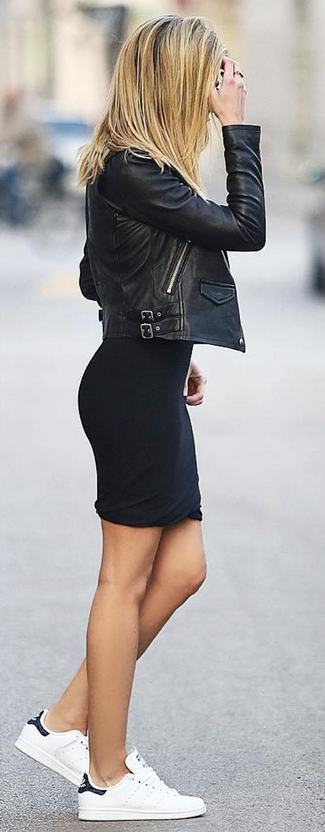 #bs0811 #street #style #fashion #inspiration |Sporty black and white