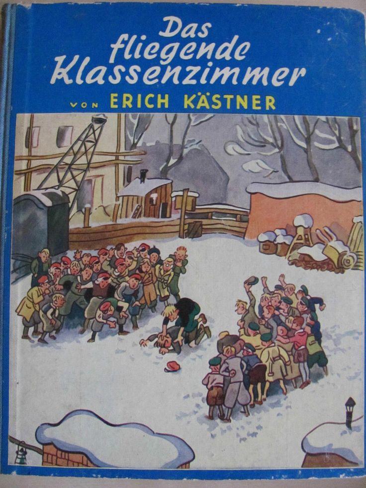 Erich Kästner - Das fliegende Klassenzimmer - Titelbild und  illusTRIERt von Walter #Trier   - Cecilie Dressler Verlag, Berlin ----