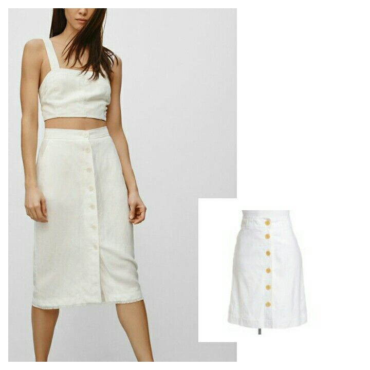 The look for less. Banana Republic white button up skirt for only $30.00! Closetcollabo.ca