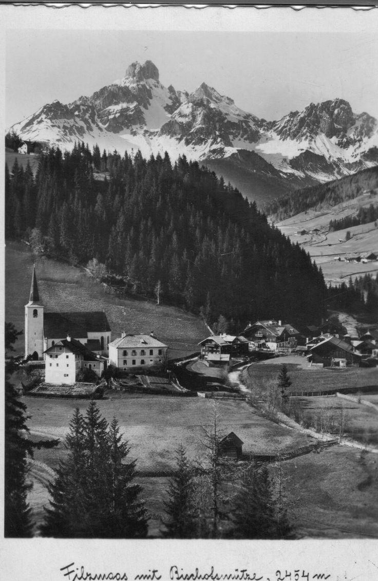 Filzmoos 1910 mit Bischofsmütze
