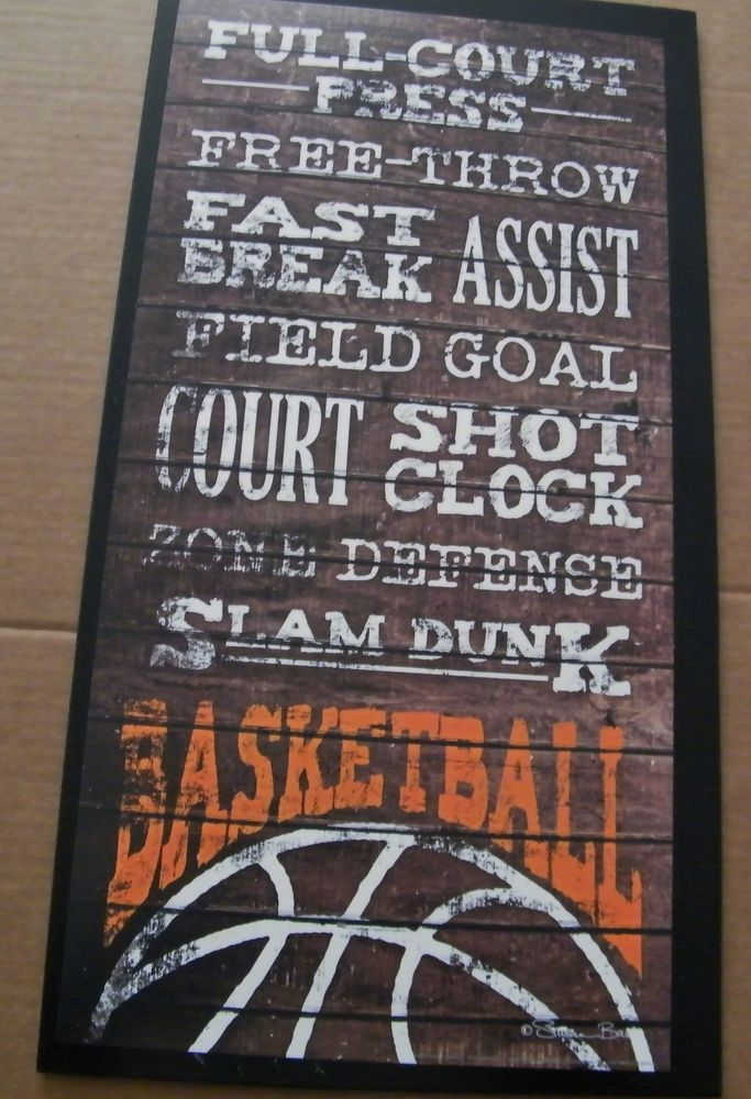 Rustic Primitive Country WOOD BASKETBALL Sayings Sport Sports Art Wood Sign   #Unbranded #Traditional