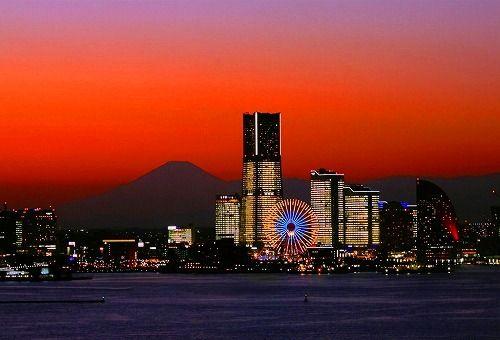 Yokohama & Mt. Fuji #kanagawa #japan