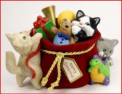 2013 HALLMARK LIMITED EDITION MISCHIEVOUS KITTENS ORNAMENT 15TH ANNIVERSARY PC.