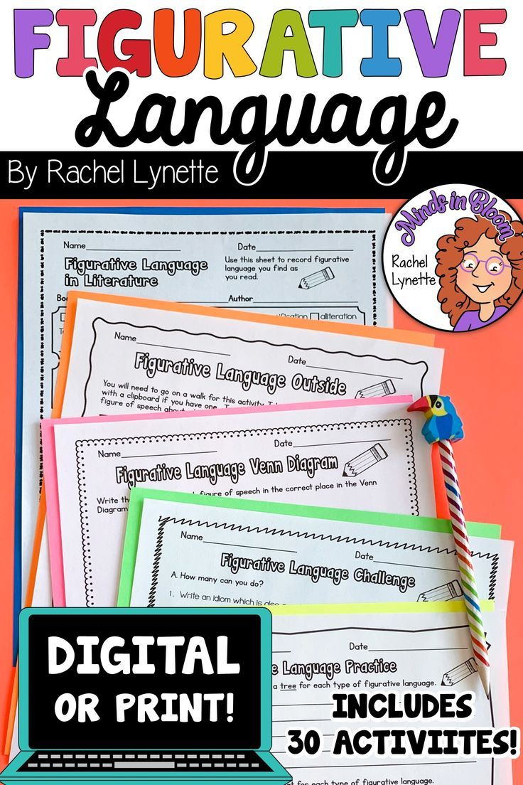 Distance Learning Figurative Language Activities For Your 3rd 5th Graders In 2020 Figurative Language Figurative Language Worksheet Figurative Language Activity
